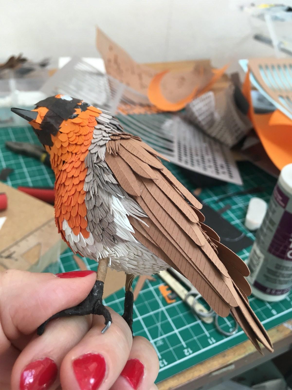 exquisite paper birds and butterflies