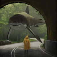 Chris Austin's Surreal Floating Shark Paintings