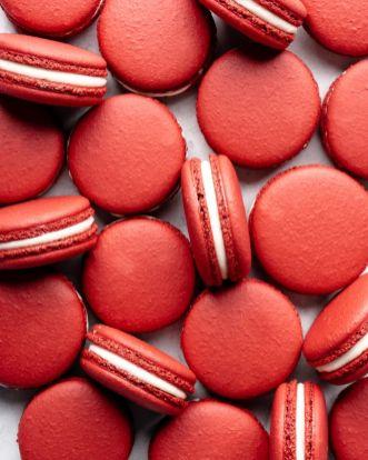 Red Velvet Macarons | Italian Method - Food Duchess