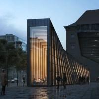 Thin, Elegant Food Pavilion Design for Stockholm