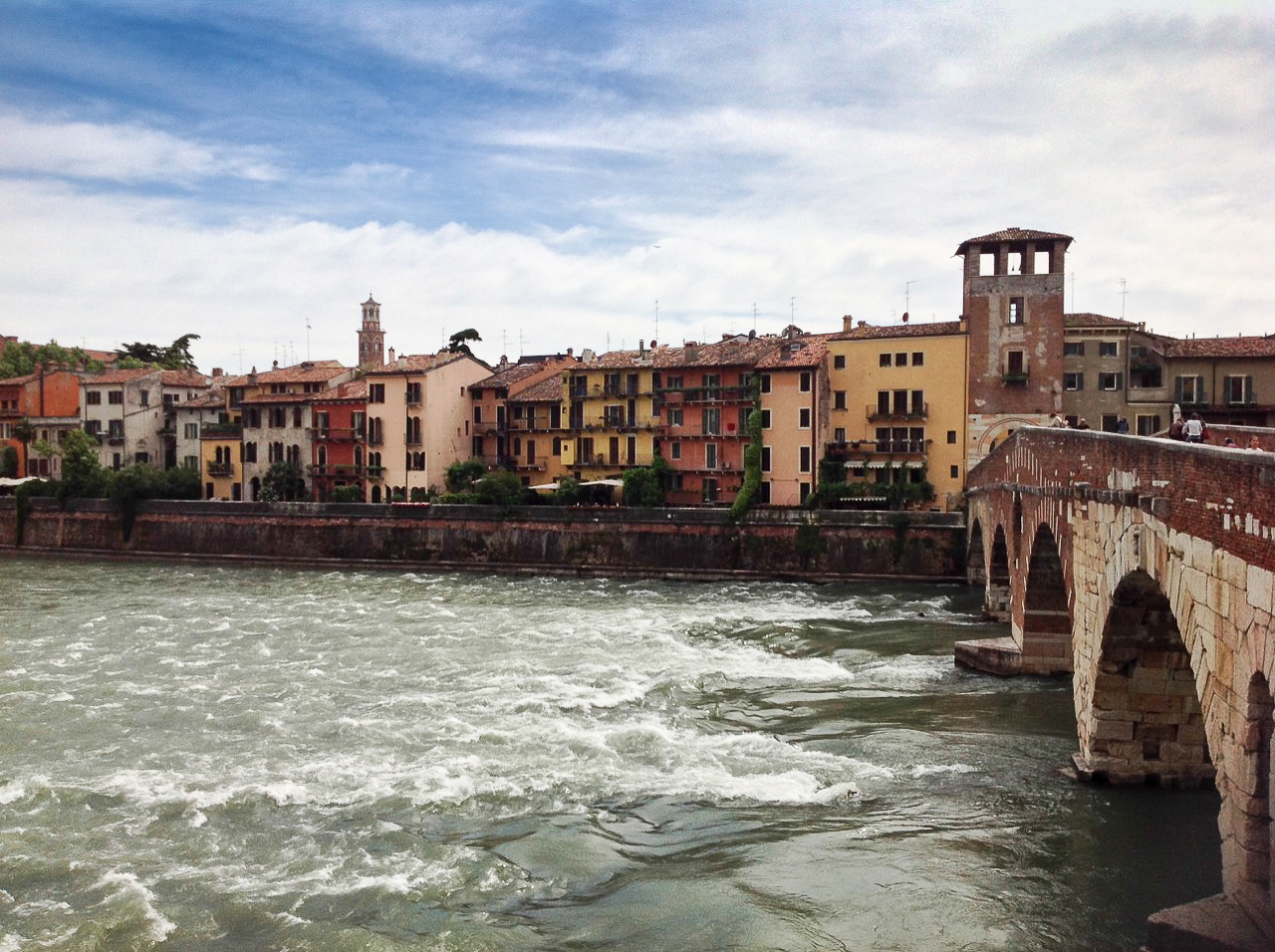 Fast waters of Adige