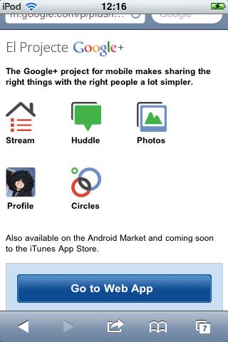 WebApp Google+`