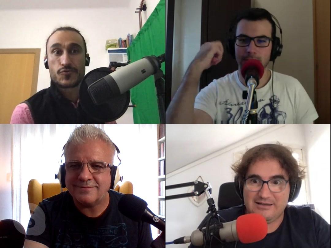 En Banjamí, en Dani, en Ludo i en macma a Skype