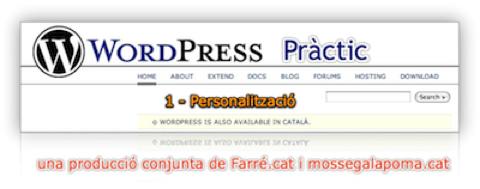 WordPress Pràctic 1 –  Personalització