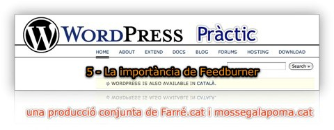 WordPress Pràctic 5 – La importància de FeedBurner