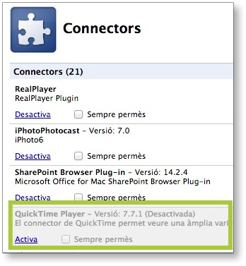 connector quicktime chrome