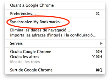Google Chrome Sync