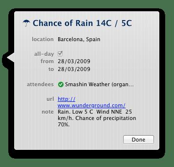 iCal Weather