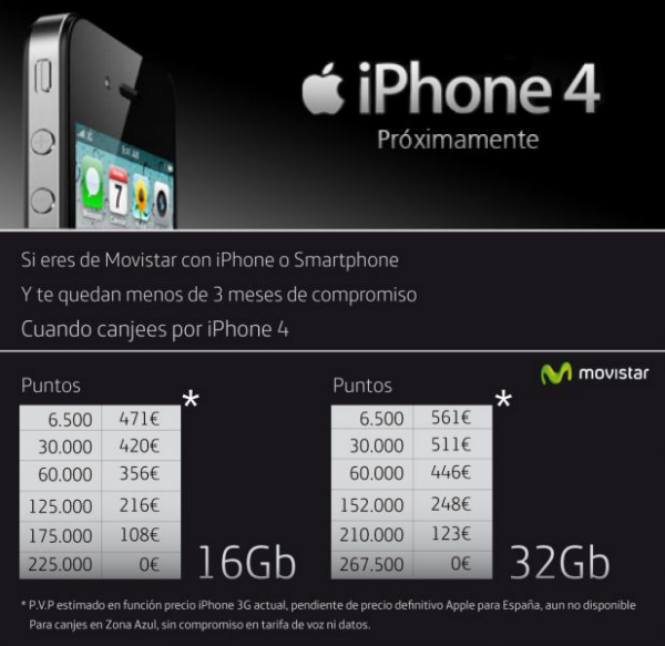 iPhone 4 a Movistar per clients
