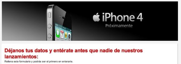 iPhone 4 formulari Vodafone
