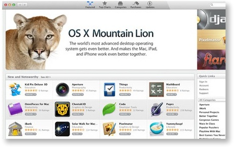 mountain lion a la Mac App Store