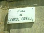 Plaça de George Orwell a Barcelona