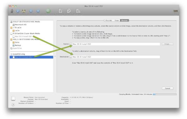 Restaurar imatge disc Mac OS X Lion
