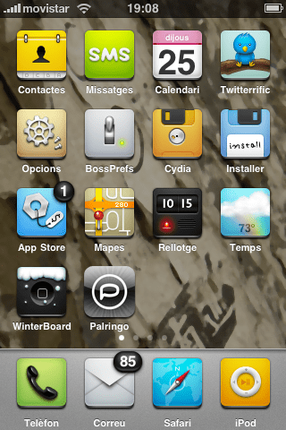 tenius iphone theme