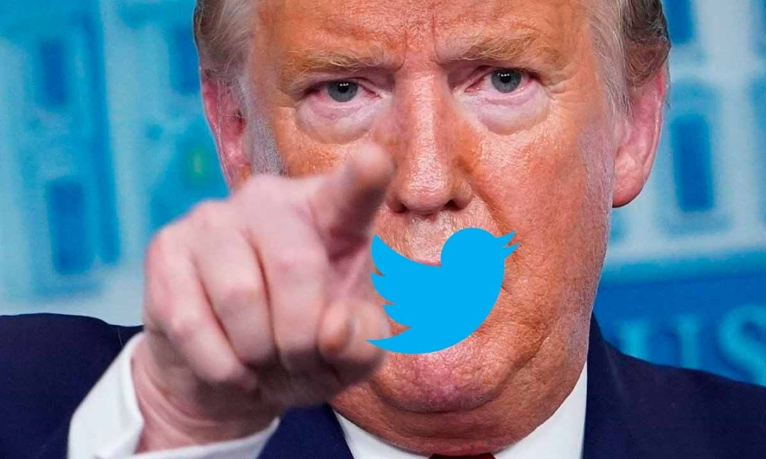 Trump tapat per la icona de twitter