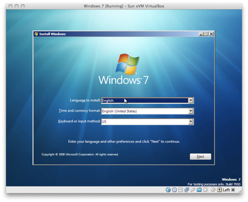 Windows 7 en un Mac