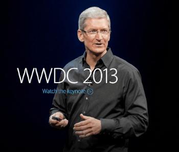 Tim Cook a la Keynote inaugural del WWDC 2013