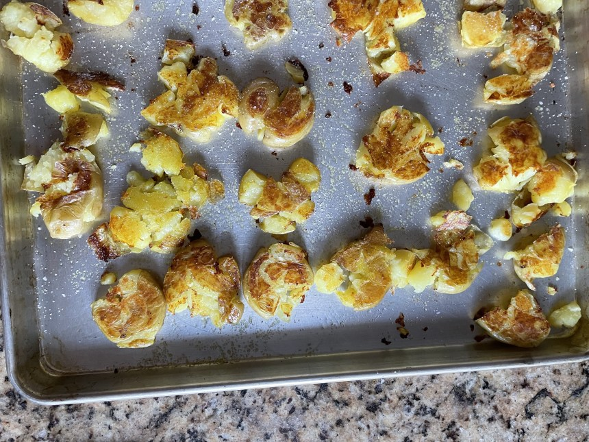 potatoes half way through cooking