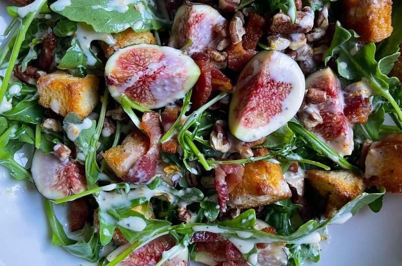 Fig Salad with Creamy Miso-Mandarin Dressing