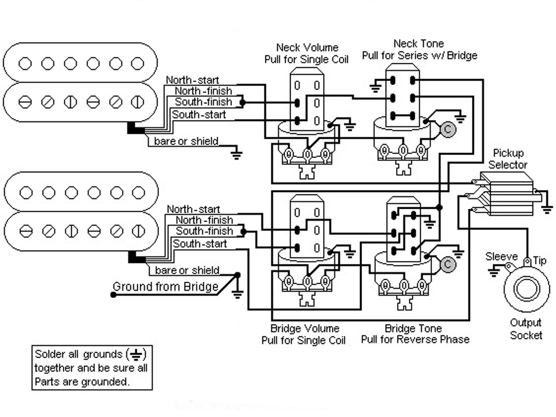 Les Paul Wiring Diagram Push Pull