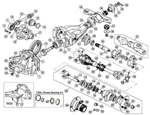 DifferentialRear Axle  Differential & Axles  Clutch