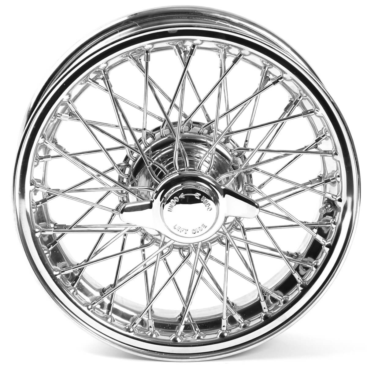 454 835 Wire Wheel Chrome 13 X4 5 60 Spoke Tube Type