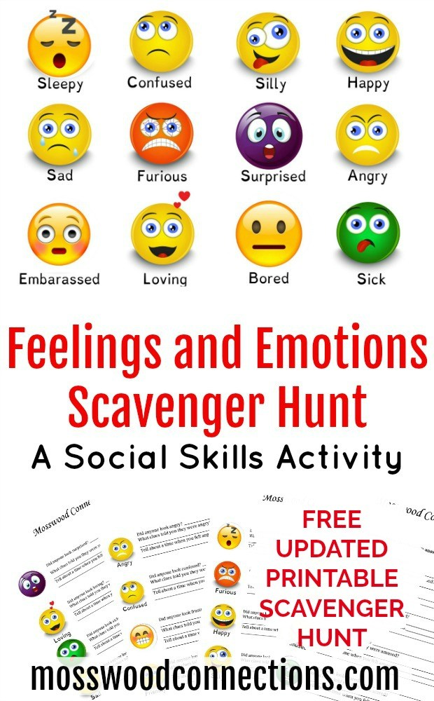Emotions Scavenger Hunt Teach Children to Recognize Feelings