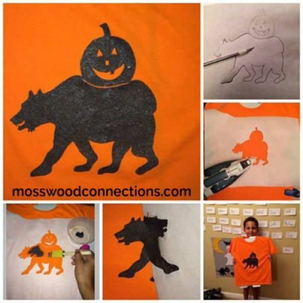 T-Shirt Stencils The Halloween Version of Easy T-Shirt Decoration Craft Projects