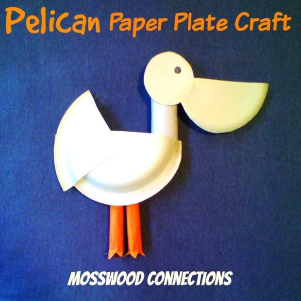 sc 1 st  Mosswood Connections & PELICAN PAPER PLATE CRAFT PROJECT