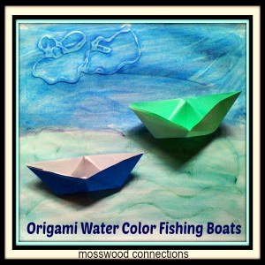 Origami Water Color Fishing Boats Art Project