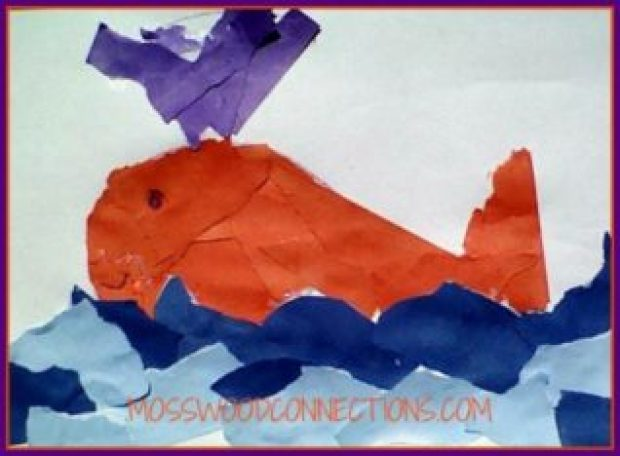 Ripped Paper Whale