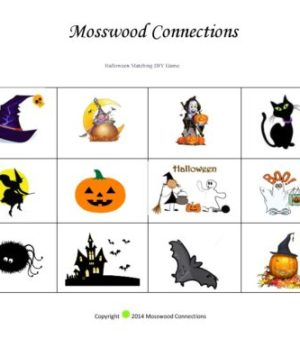 Busy Box Halloween matching Game