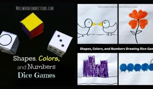 Shapes, Colors, and Numbers Dice Games