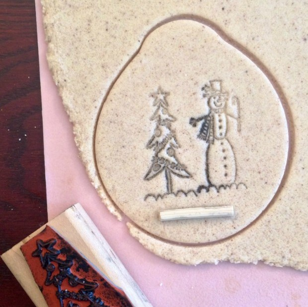 Decorating a Homemade Gift With Stamps