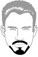 Beard Types - Balbo Beard - Mossy Beard