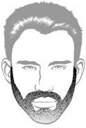 Beard Types - Medium Stubble Beard - Mossy Beard