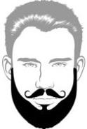 Beard Types - Verdi Beard - Mossy Beard