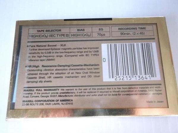 Maxell XLII - 90 CrO2 Blank Audio Cassette Tape - www.mossymart.com
