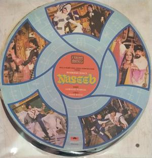 Nazeeb Hindi Film LP Vinyl Record by Laxmikant Pyarelal www.mossymart.com