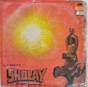 Sholay Hindi Film LP Vinyl Record by R D Burman www.mossymart.com
