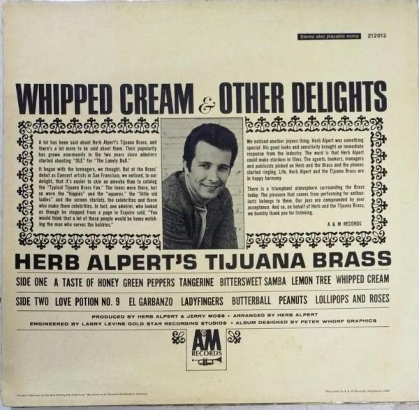 Whipped Cream and other Delights LP Vinyl Record www.mossymart.com