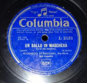 LA Traviata 78 RPM Record by Riccardo Stracciari with orchestra L 2131 www.mossymart.com