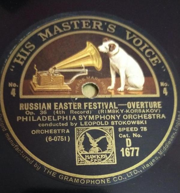Russian Easter Festival-Overture Philadelphia Symphony Orchestra 78 RPM Record by Leopold Stokowski www.mossymart.com