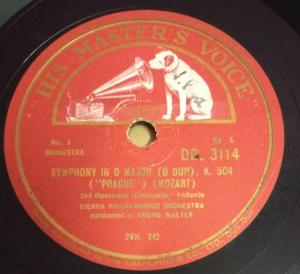 Symphony In D Major 78 RPM Record by Vienna Philharmonic Orchestra DB 3114 www.mossymart.com