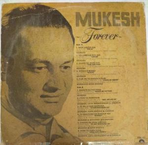 Mukesh Forever Hindi Film hits LP Vinyl Record www.mossymart.com