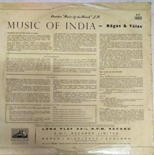 Music of India Ragas and Talas LP Vinyl Record by Ravi shankar Sitar with Alla Rakha Tabla www.mossymart.com