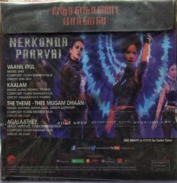 Nerkonda Paarvai Tamil Film Audio CD by Yuvan Sankar Raja www.mossymart.com