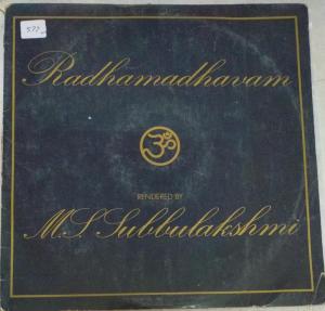 Radhamadhavam carnatic Tamil LP Vinyl Record by M S Subbulakshmi www.mossymat.com