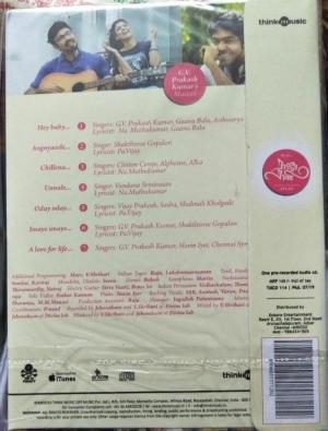 Raja Rani Tamil Film Audio CD by G V Prakash www.mossymart.com