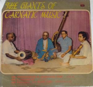 The Giants of Carnatic Music Tamil LP Vinyl Record by Chemmangudi Srinivasa Iyer www.mossymat.com